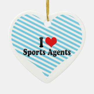 I Love Sports Agents Christmas Ornaments
