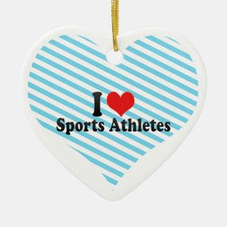 I Love Sports Athletes Christmas Ornament