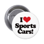 I Love Sports Cars! Buttons