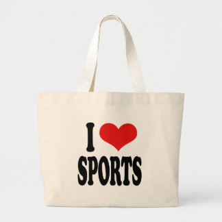 I Love Sports Jumbo Tote Bag