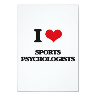 "I love Sports Psychologists 3.5"" X 5"" Invitation Card"