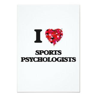 I love Sports Psychologists 5x7 Paper Invitation Card