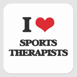 I love Sports Therapists Square Sticker