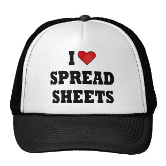 I LOVE SPREAD SHEETS MESH HATS