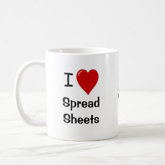 I Love Spreadsheets - Add Logo - Personalised Basic White Mug