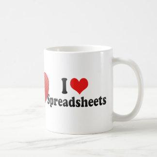 I Love Spreadsheets Coffee Mug