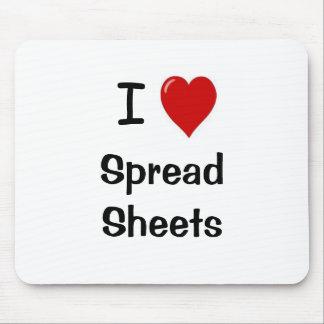 I Love Spreadsheets I Heart Spreadsheets Mousepad