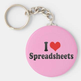 I Love Spreadsheets Key Ring