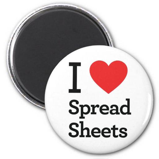 I Love Spreadsheets Fridge Magnets