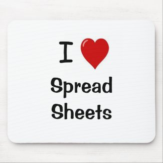 I Love Spreadsheets Mousemat