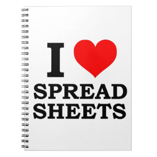 I Love Spreadsheets Spiral Notebook