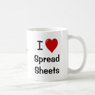 I Love Spreadsheets & Spreadsheets Love Me Basic White Mug
