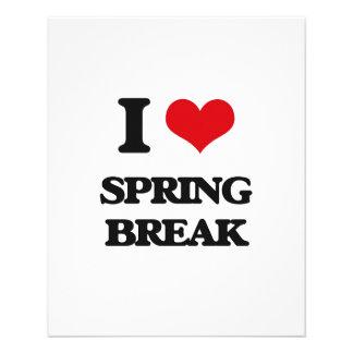 I love Spring Break Flyer
