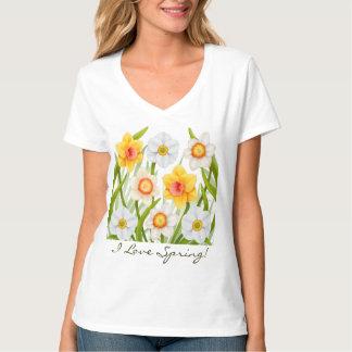 I Love Spring Daffodil T-Shirt