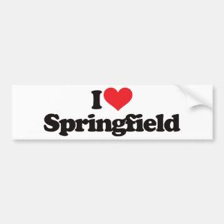 I Love Springfield Bumper Sticker