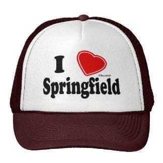 I Love Springfield Trucker Hats