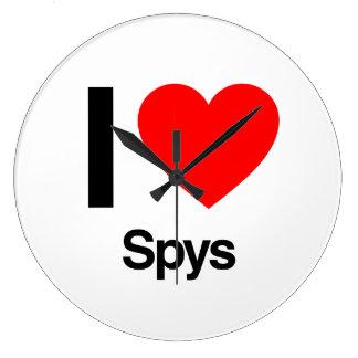 i love spys wallclocks