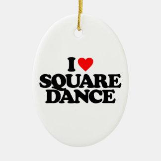 I LOVE SQUARE DANCE CHRISTMAS ORNAMENT