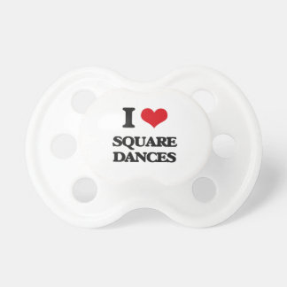 I Love SQUARE DANCES BooginHead Pacifier