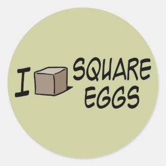 I Love Square Eggs Sticker