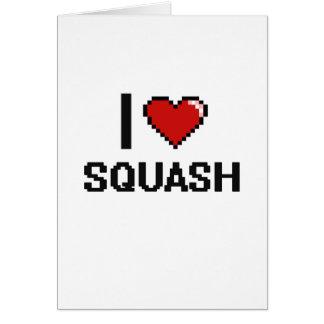 I Love Squash Greeting Card