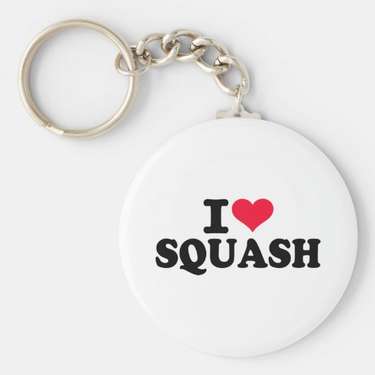 I love squash key ring
