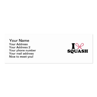 I love Squash Pack Of Skinny Business Cards