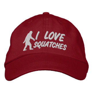 I love Squatches Embroidered Baseball Caps