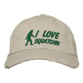 I love Squatchin Embroidered Baseball Caps