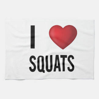 I love squats tea towel