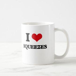 I love Squeezes Basic White Mug