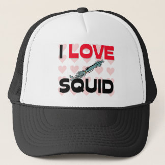 I Love Squid Trucker Hat