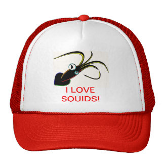 I LOVE SQUIDS! CAP