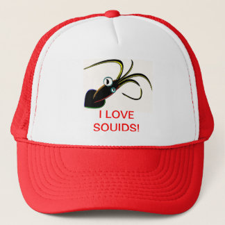 I LOVE SQUIDS! TRUCKER HAT