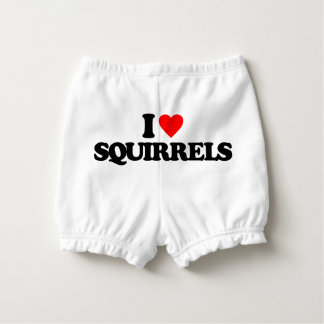 I LOVE SQUIRRELS NAPPY COVER