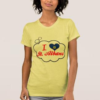 I Love St. Albans, Vermont T Shirts