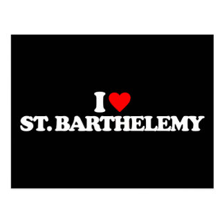 I LOVE ST. BARTHELEMY POST CARDS