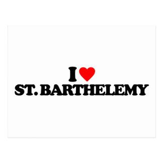 I LOVE ST. BARTHELEMY POSTCARD