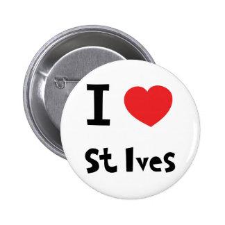 I love st Ives 6 Cm Round Badge