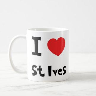 I love st Ives Basic White Mug