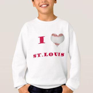 I Love St. Louis Baseball Sweatshirt