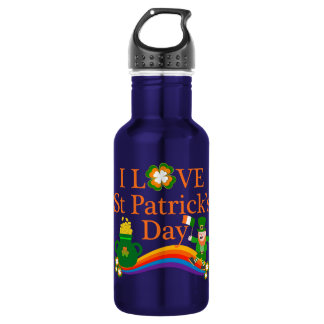 I Love St Patrick's Day 532 Ml Water Bottle