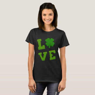 I Love St Patrick's Day Shamrock T-Shirt