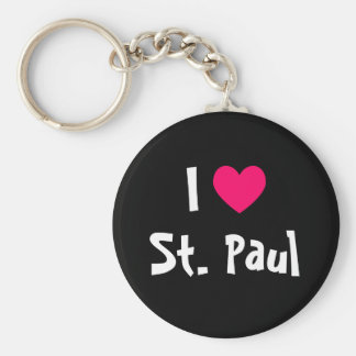 I Love St. Paul Key Ring