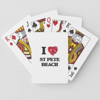 I love St Pete Beach Florida Playing Cards