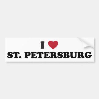 I Love St. Petersburg Florida Bumper Sticker