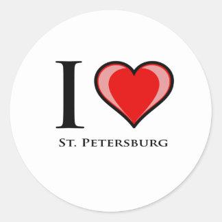I Love St. Petersburg Round Sticker