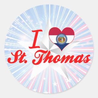 I Love St. Thomas, Missouri Stickers