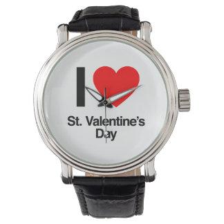 i love st. valentine's day wrist watch