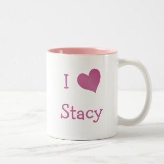 I Love Stacy Two-Tone Coffee Mug
